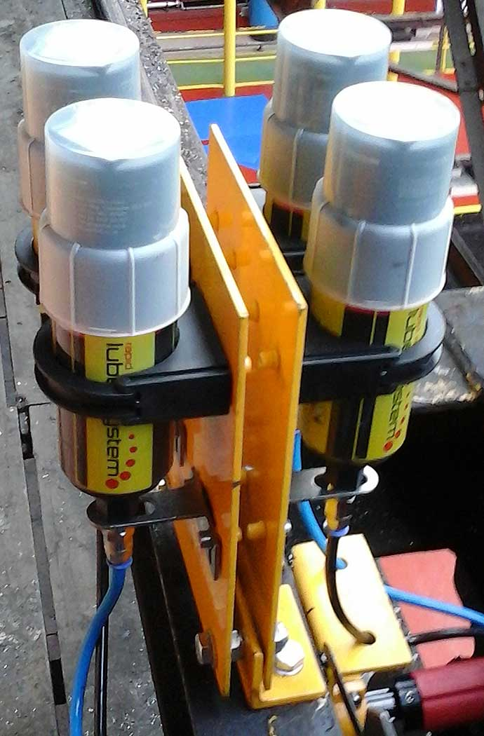 Crane Wheel Lubrication system Installation