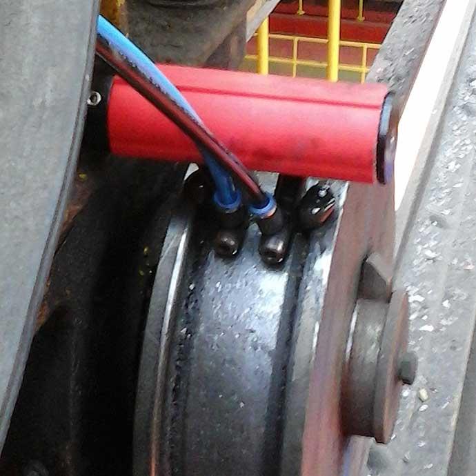 Crane Wheel Lubrication Installation